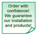 We guarantee our window installations