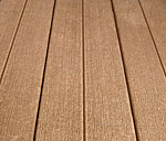 Decking surface in sandladwood color